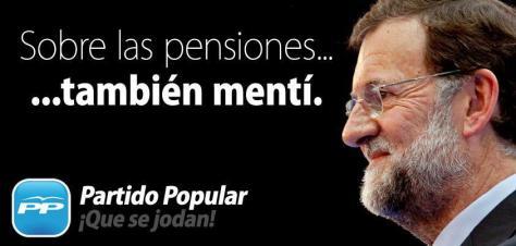 Mariano también mintió sobre las pensiones