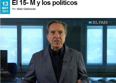 el 15M y los politicos